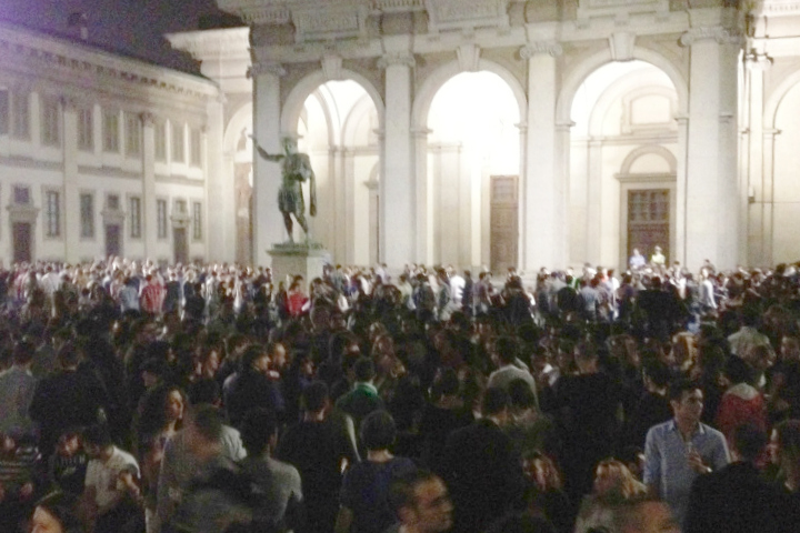 Stumbling into Milan Nightlife: Open-Air Party