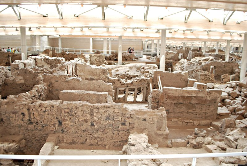 akrotiri in santorini is a must see