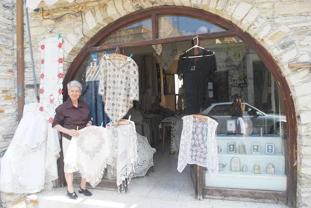 Anthoula Kouma's lace shop in Lefkara, Cyprus.