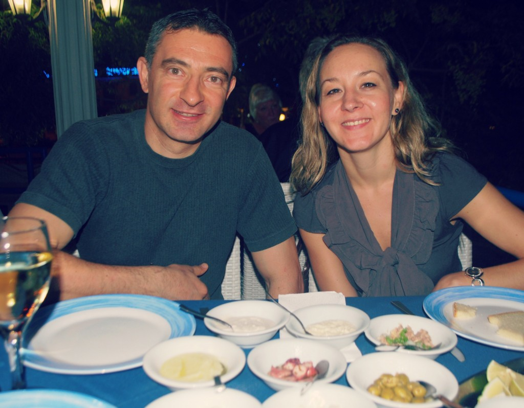 Meze night with mygood friends Iacovos and Timi.