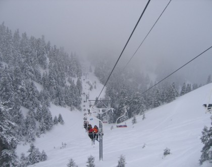 skiing in greece