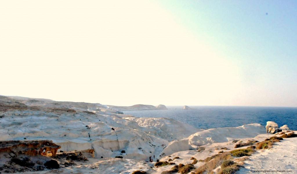 view of sarakiniko beach