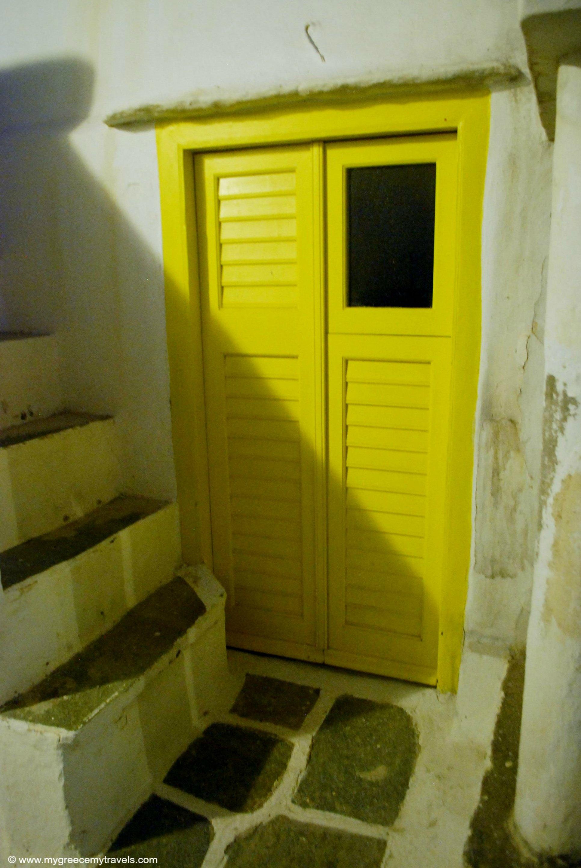 Sifnos doorways at night.