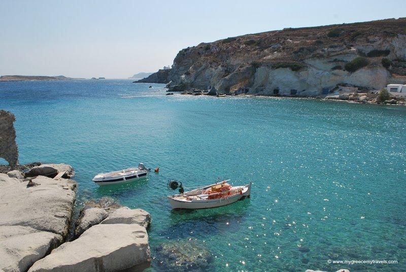 fishing village in kimolos island greece