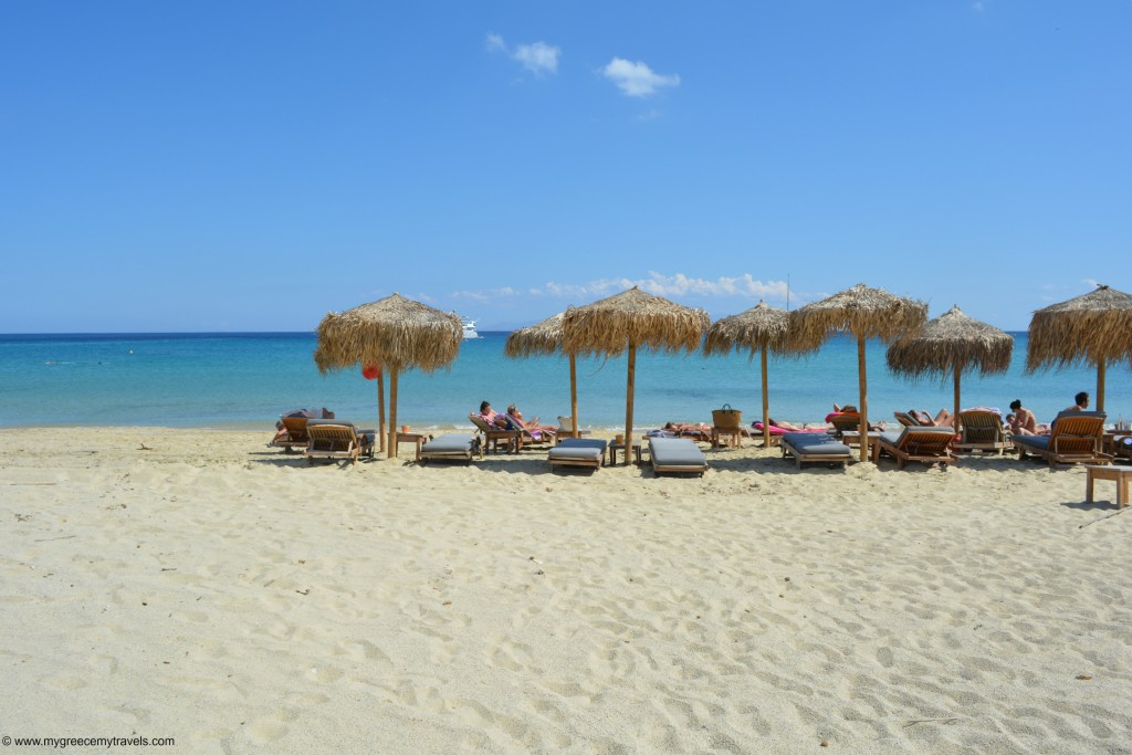 Kalo Livadi beach is one of the best beaches in Mykonos.
