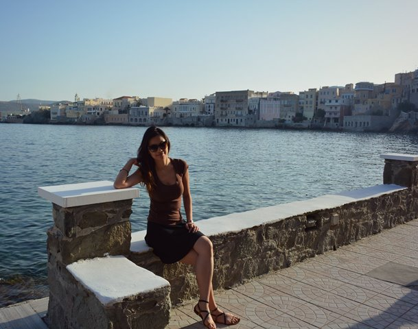 me loving little venice of syros