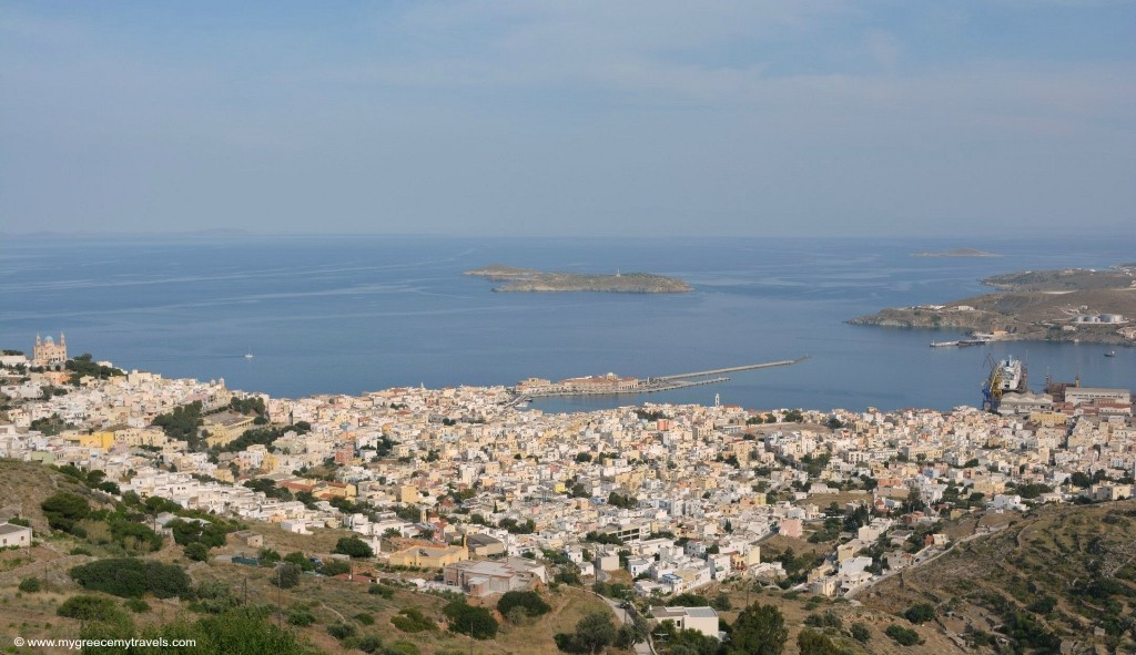 panoramic shot from ano syros