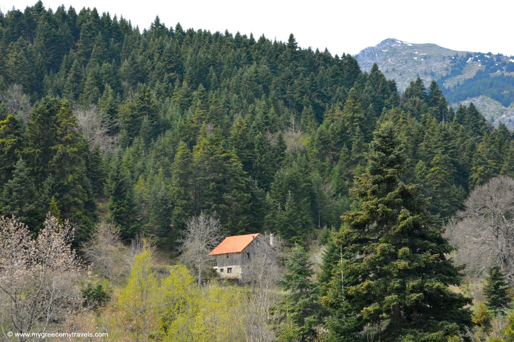 house in the pindos mountains