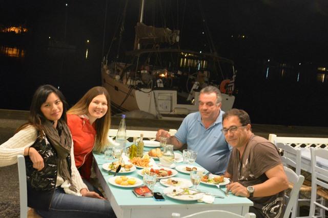 Aristos Taverna dining in Kea.