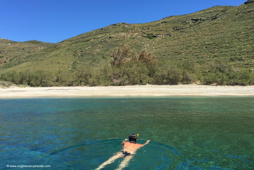 swim to secluded beach