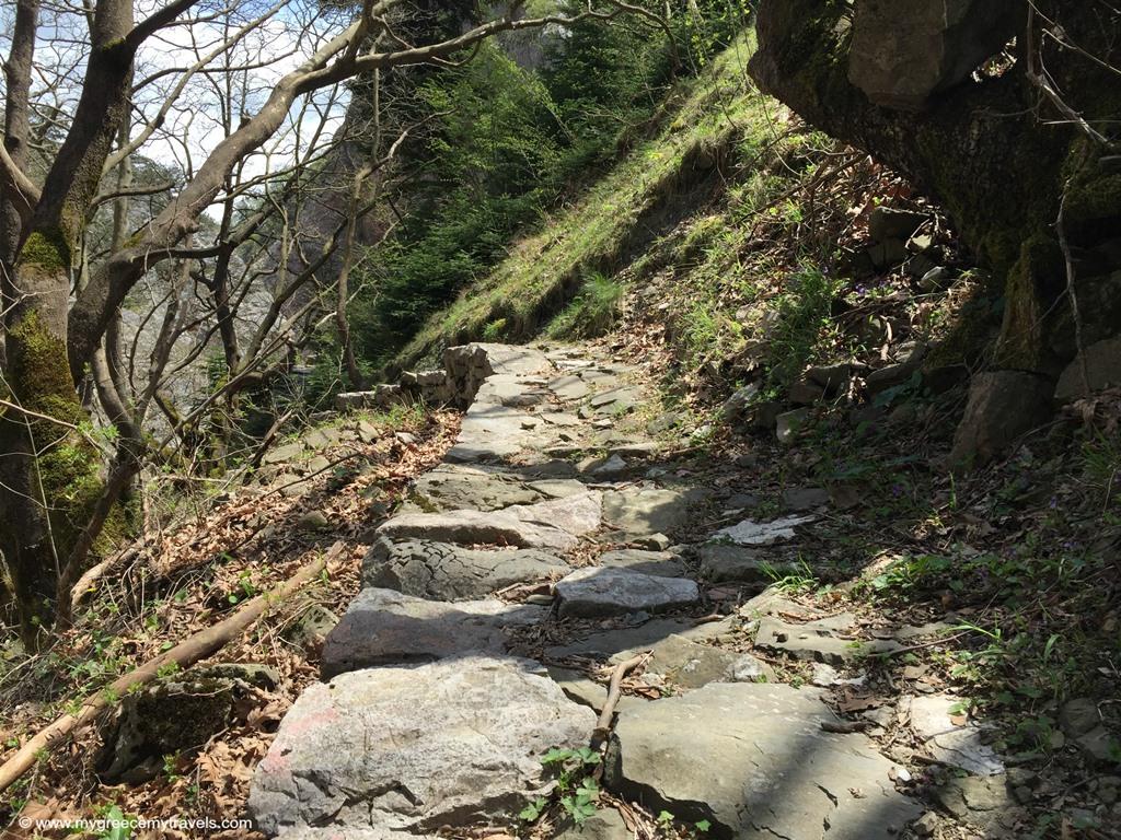 Lovely path in Agrafa Mountains.