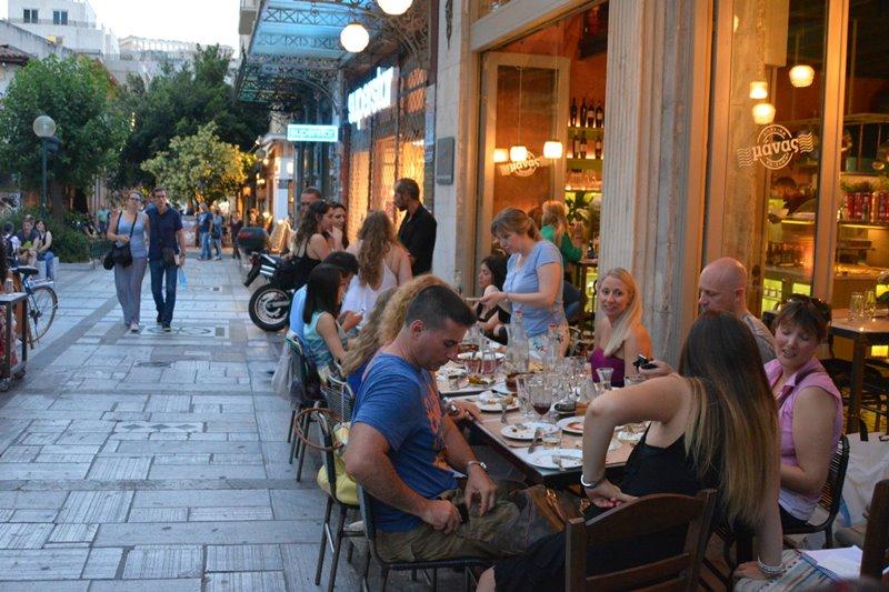 Mana's Kouzina-Kouzina in St. Irene Square, Athens.