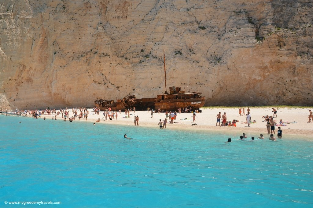 the shipwreck beach of zakynthos