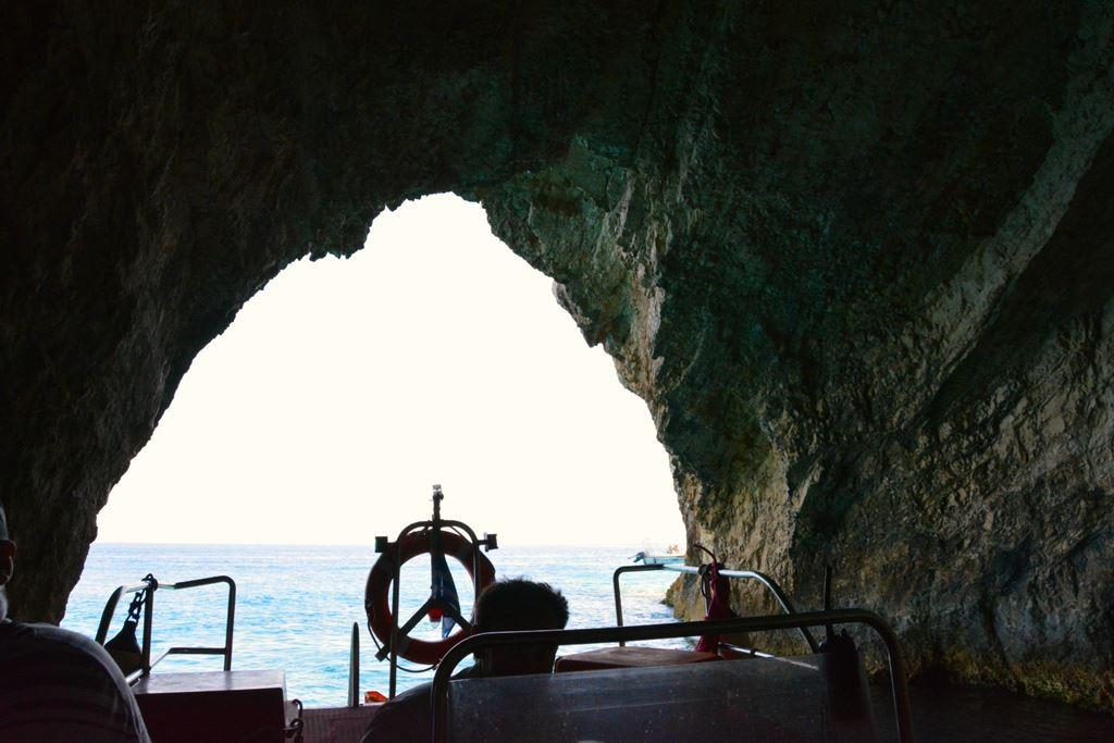 Blue Caves in Zakynthos.