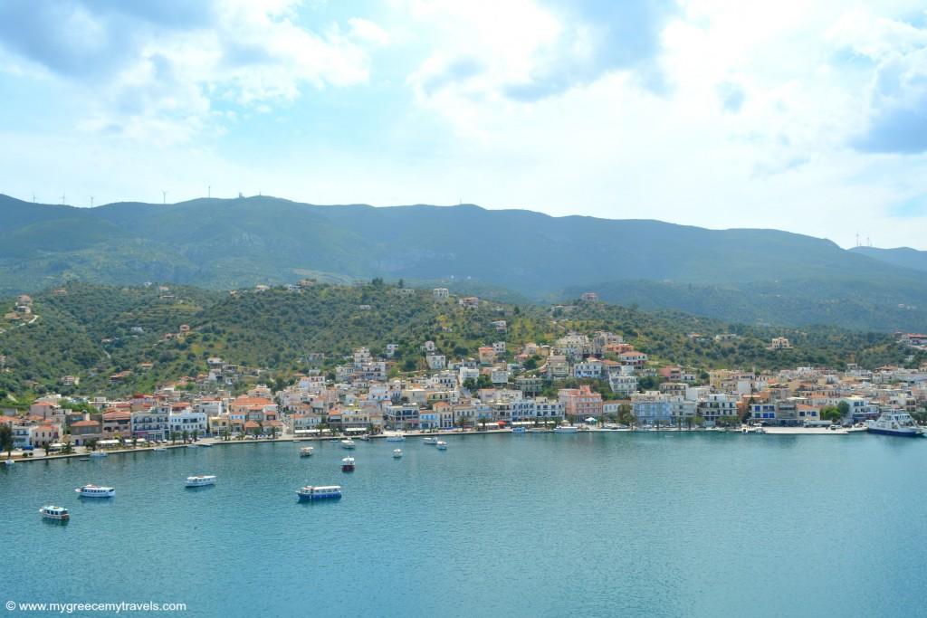 View from Poros to Peloponnese.