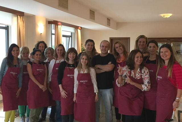 All the Greek wine and cooking class with chef Giorgos Stylianoudakis.