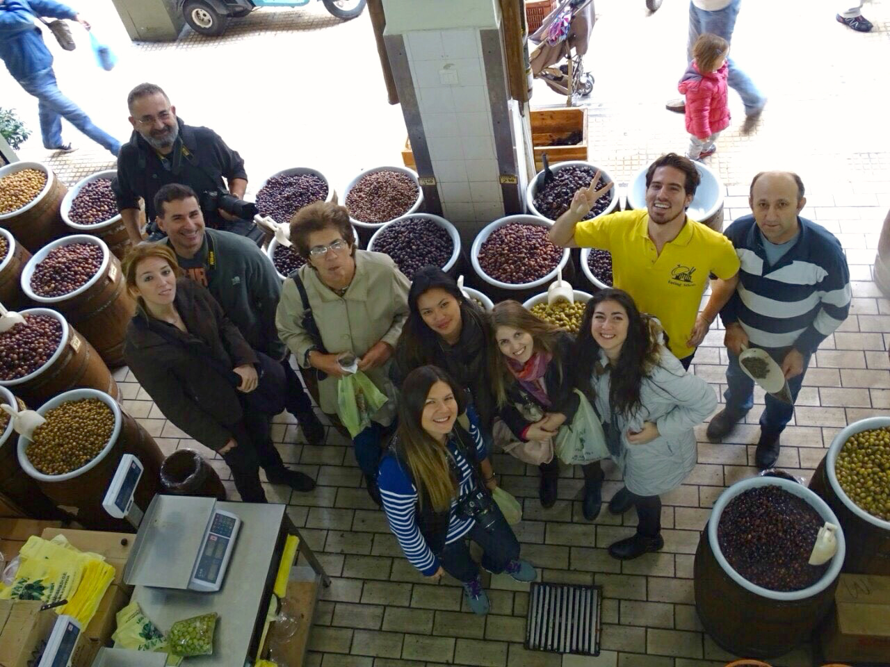 travel bloggers greece on the eating athens tour