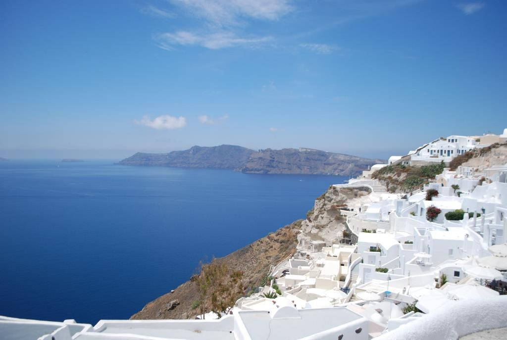 Santorini's unique view.