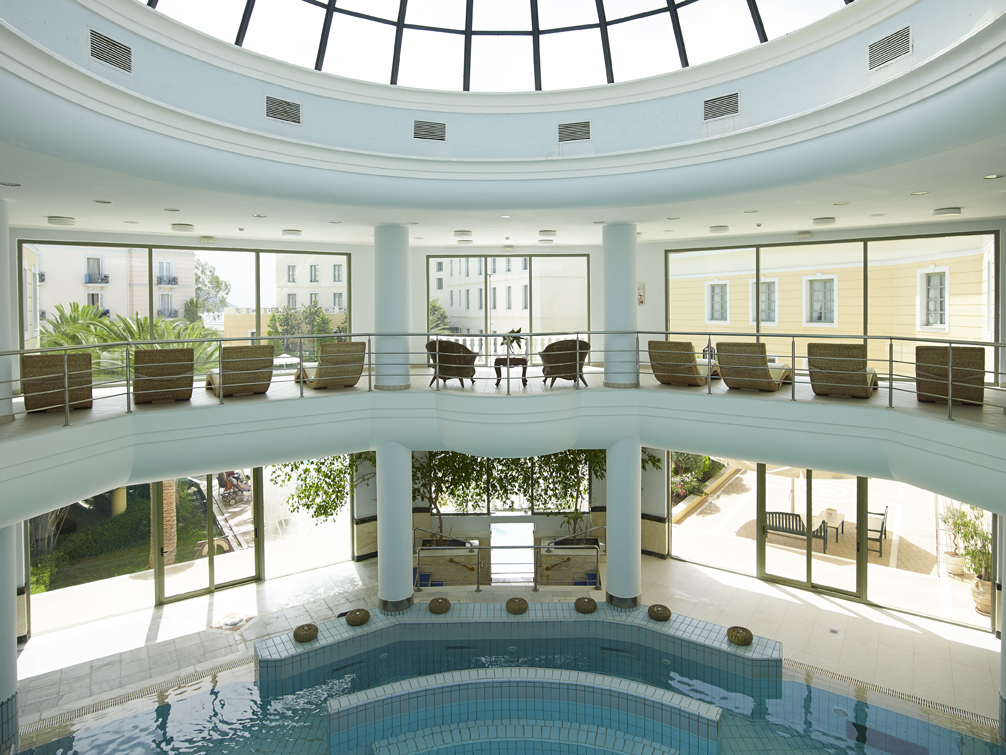 Indoor thermal water pool.