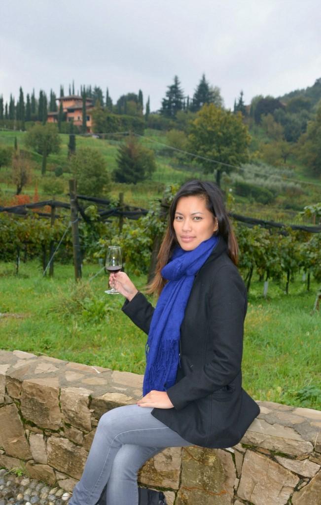 A little bit of wine tasting in Italy's Lombardy region.