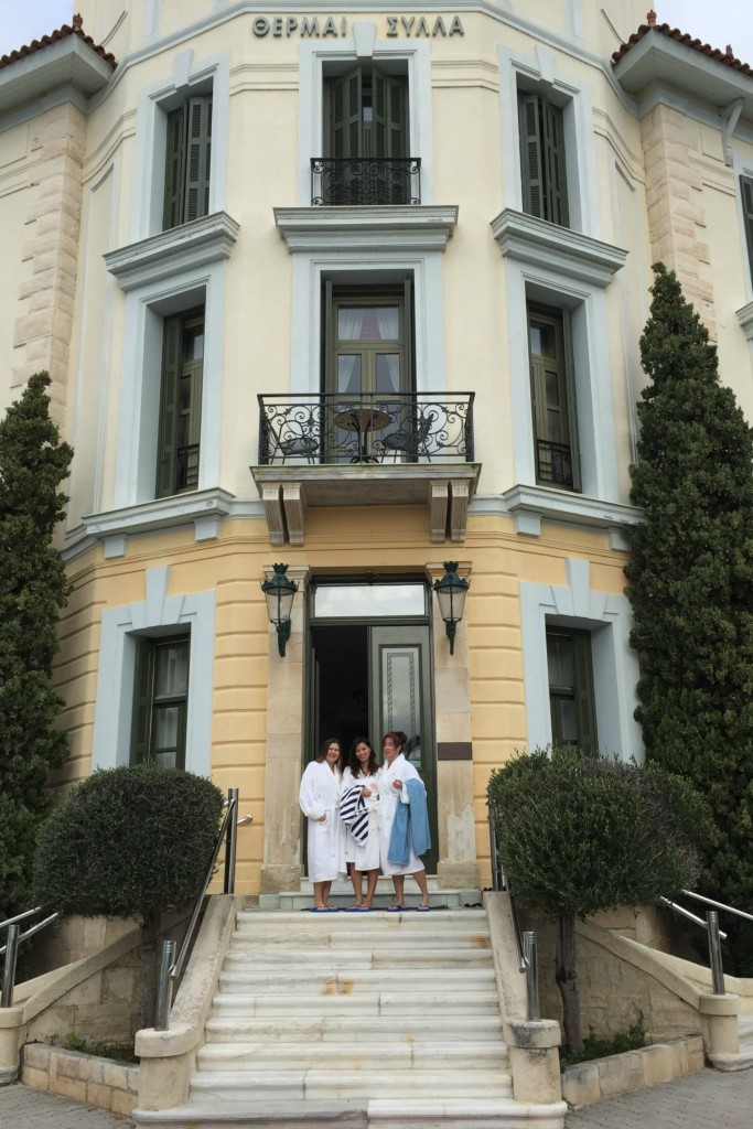Travel Bloggers Greece at Thermae Sylla!