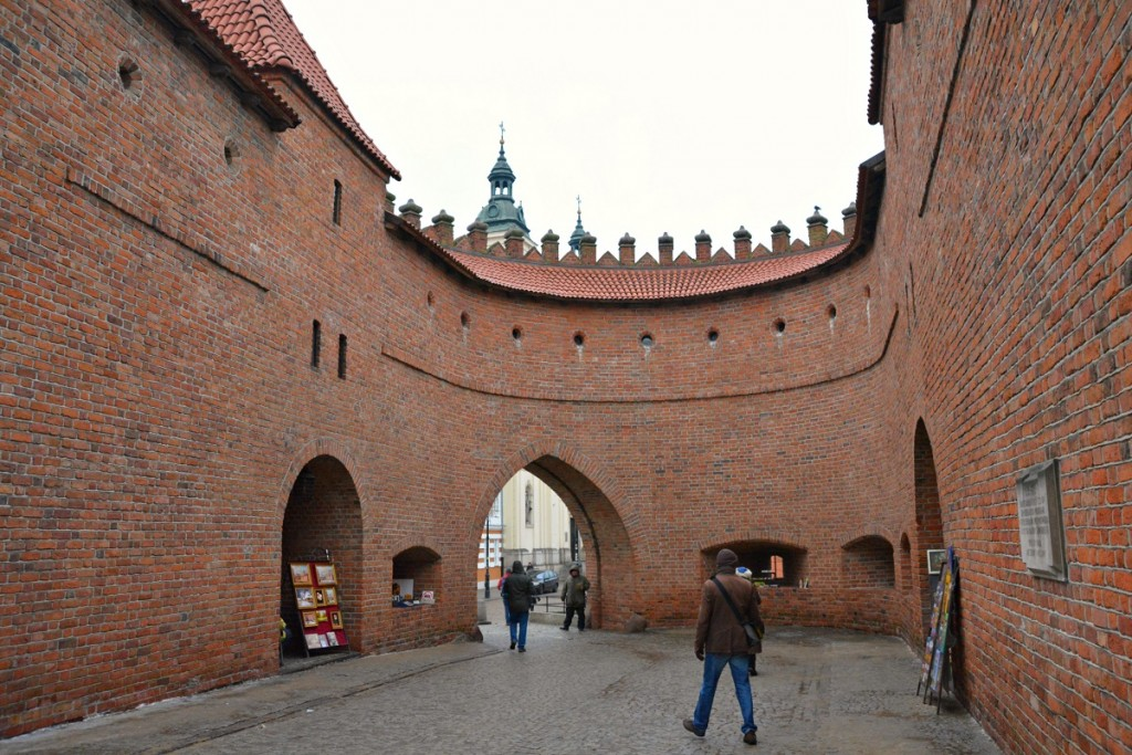 Barbican gates of Old Town Warsaw.