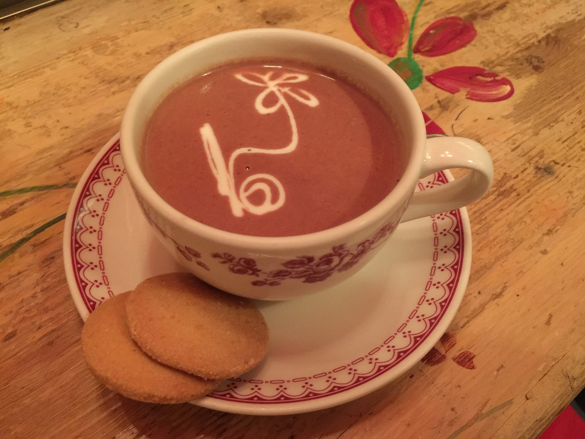 Hot chocolate at Petit Fleur Kolonaki.