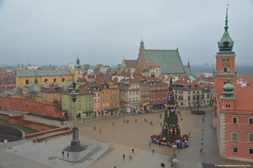 Nice cold cloudy day view of Old Town Warsaw.