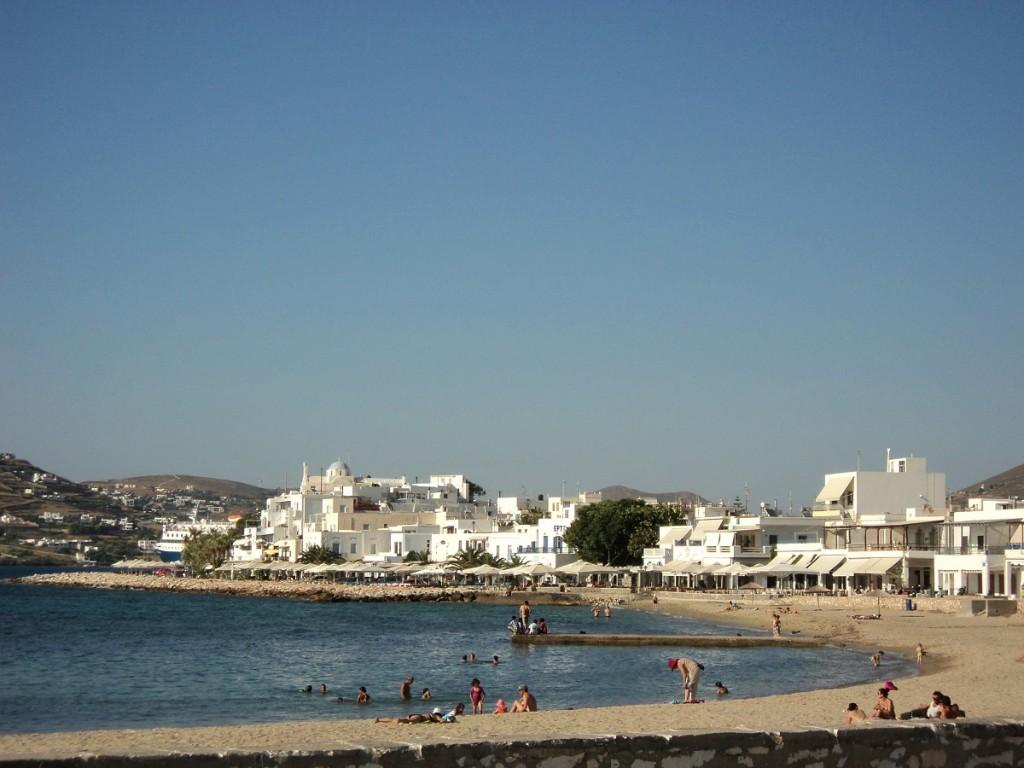 Parikia harbor in Paros.