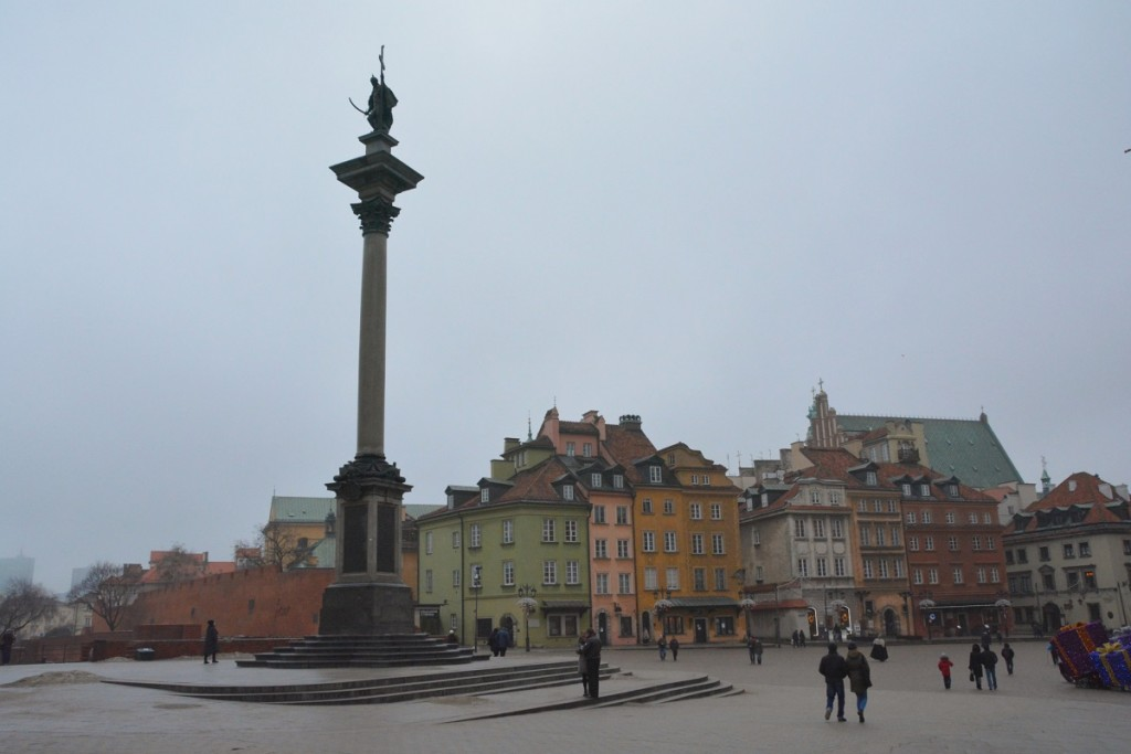 Plac Zamkowy in Old Town Warsaw.
