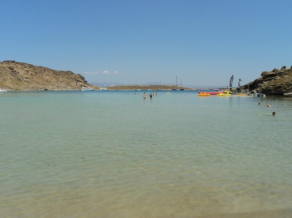 Pretty beaches of Paros island.