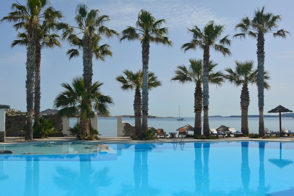 Refreshing pool view at Astir of Paros hotel.