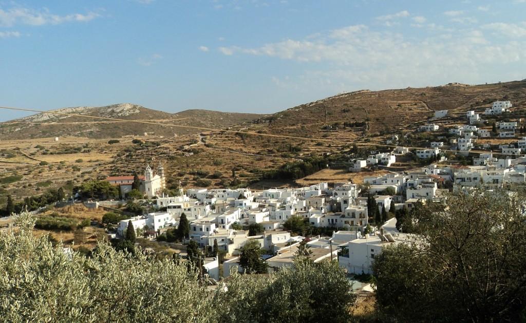 Whitewashed village in Paros.