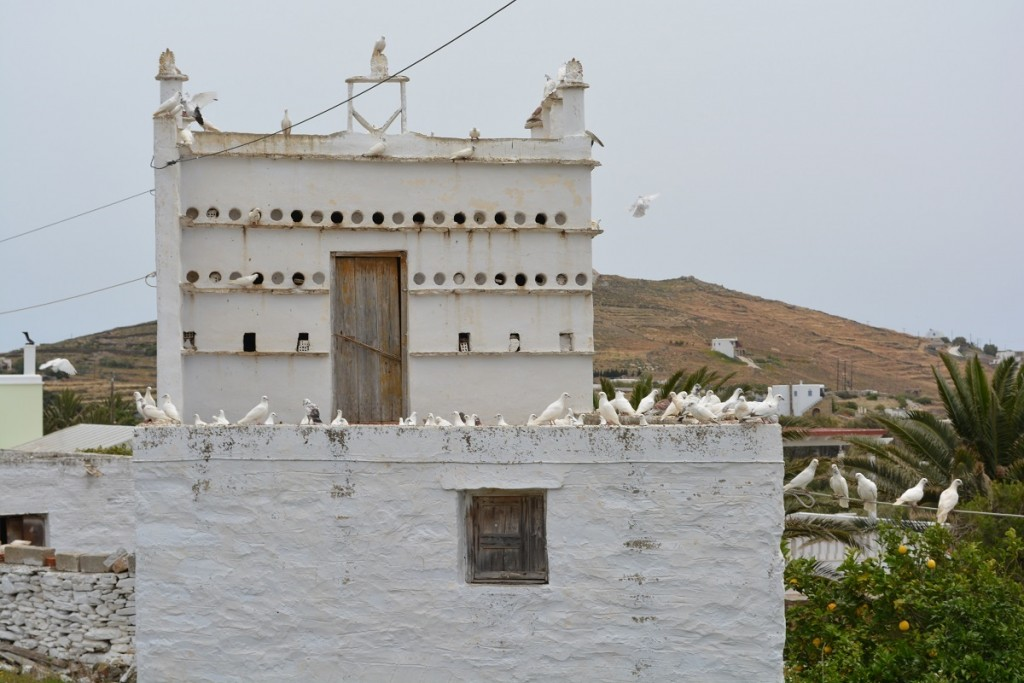 Cycladic island birdhouses in Tinos.