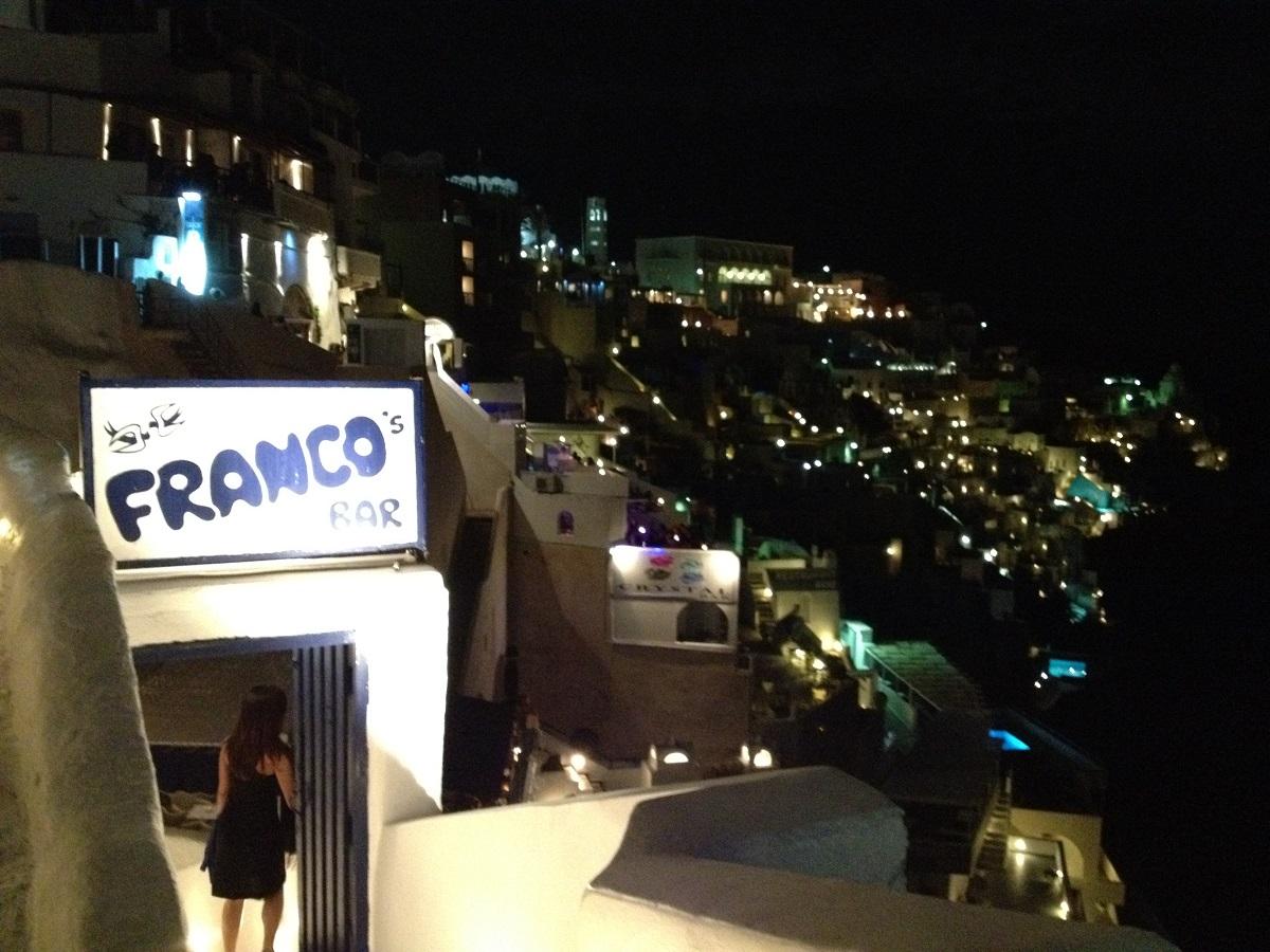 Franco's in Fira, Santorini.