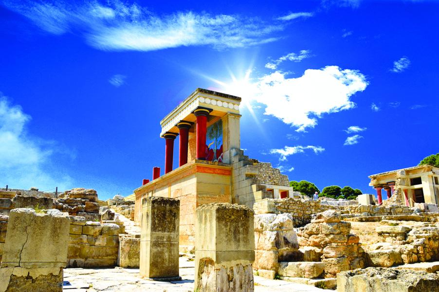Knossos in Crete.