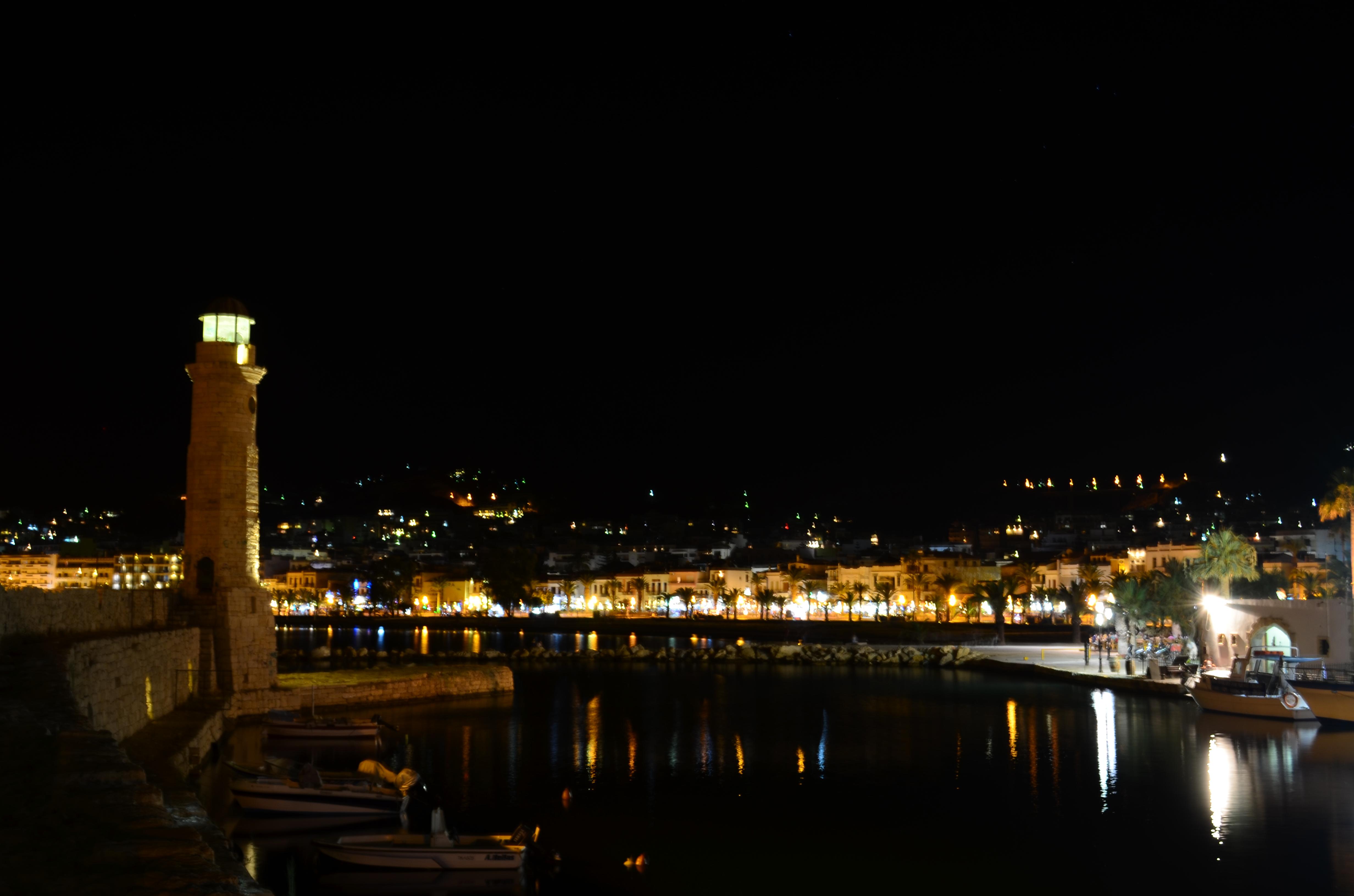 Rethymno at night.