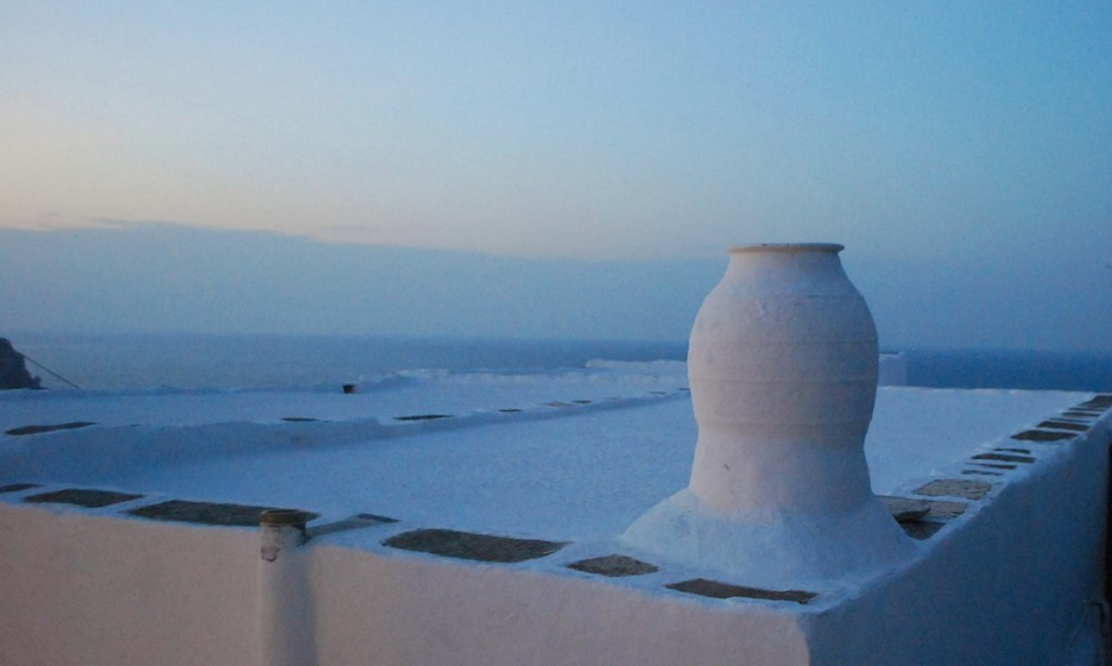 A rooftop in the castro of Sifnos.