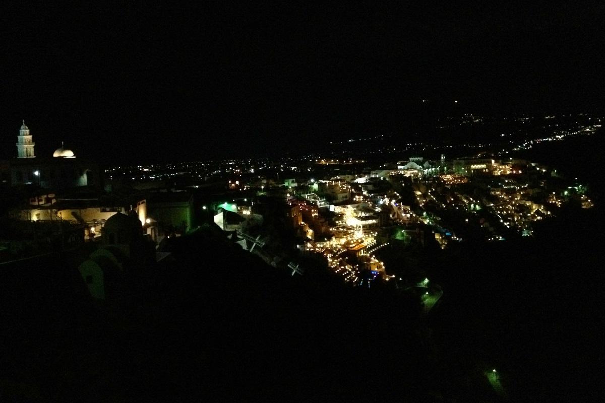 Santorini nightlife.