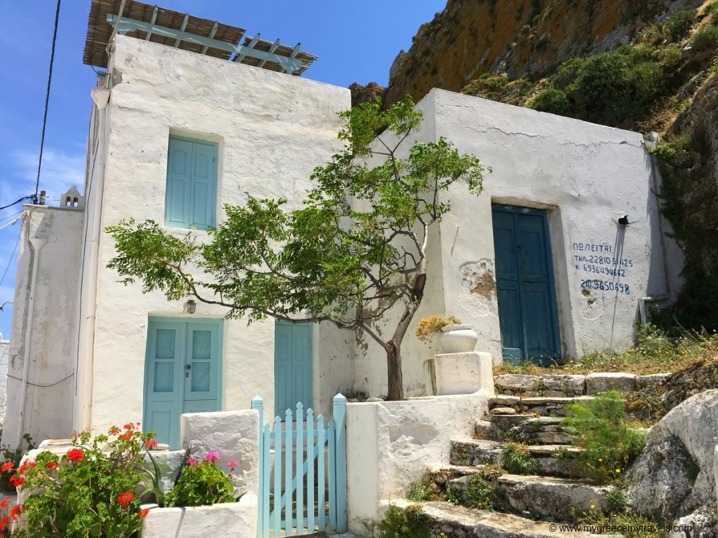 Serifos Chora homes.