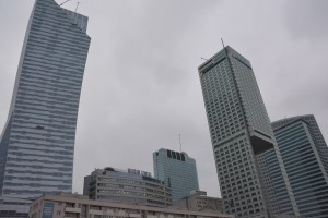 Skyscrapers in the heart of Warsaw.