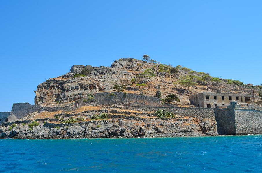 Spinalonga island off the coast of Crete.