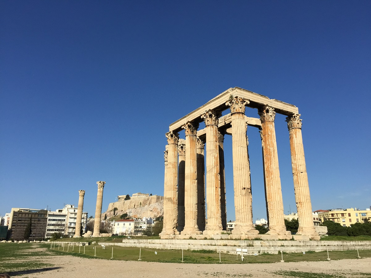 Greek temple of zeus