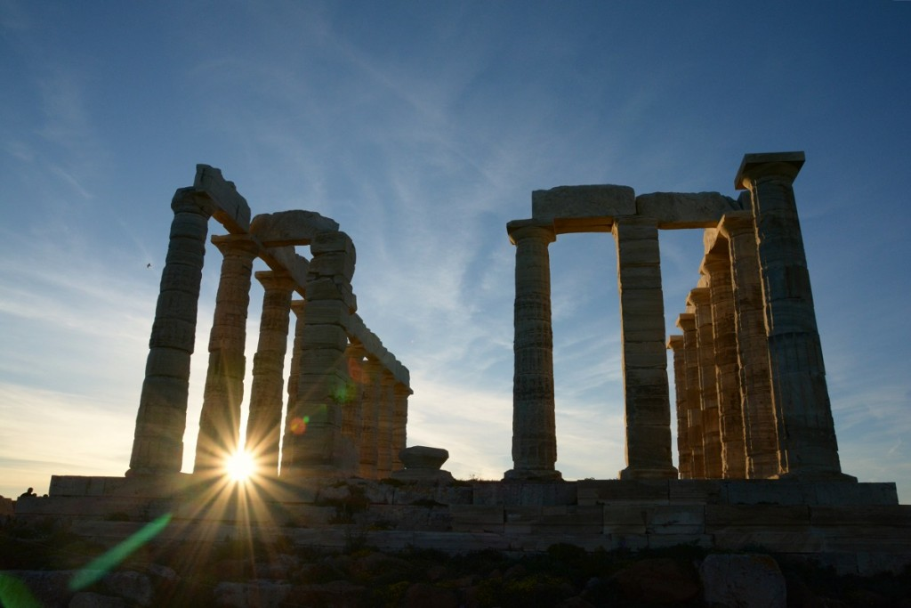 Cape Sounio. Temple of Poseidon.
