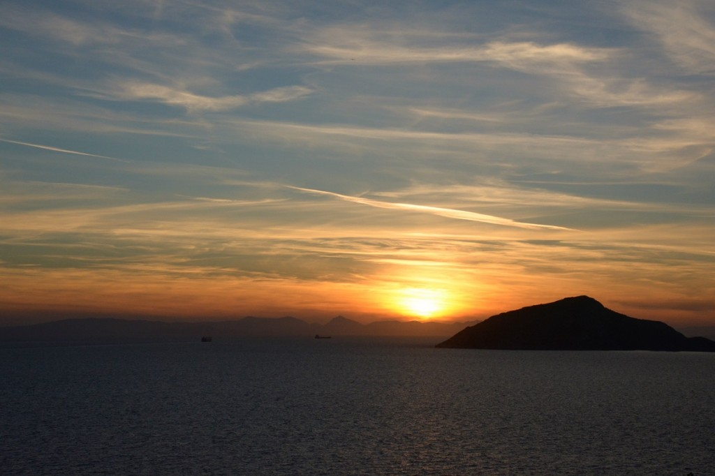 View from Cape Sounio at sunset.