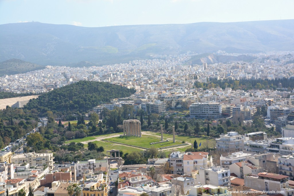 View of the Temple of Zeus.