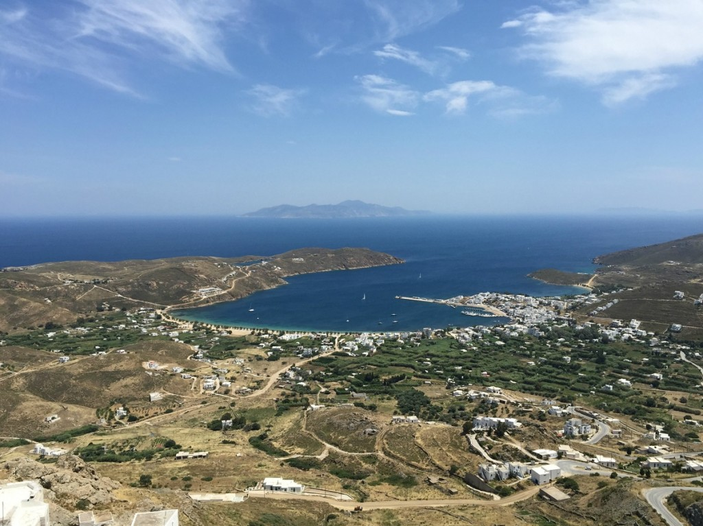 Views of Serifos from the Chora.