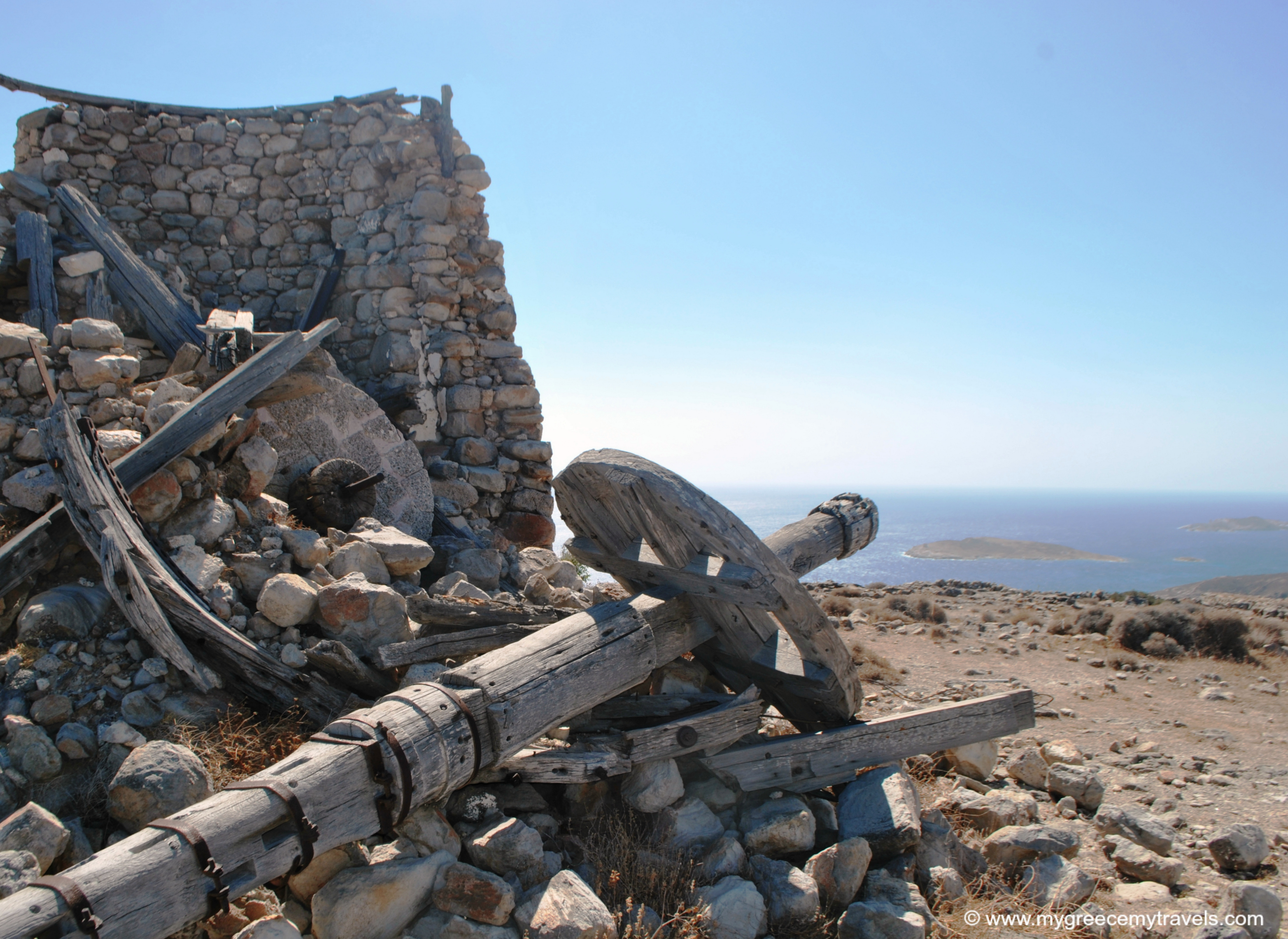 The Abandoned Windmills of Kimolos