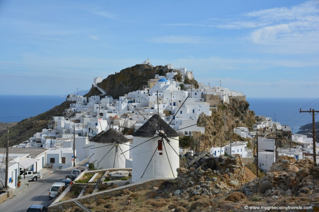 Windmills of Serifos island.
