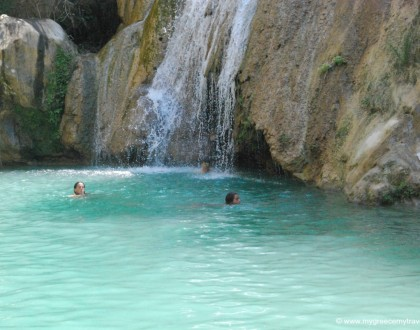 The Polylimnio Waterfalls in Messenia